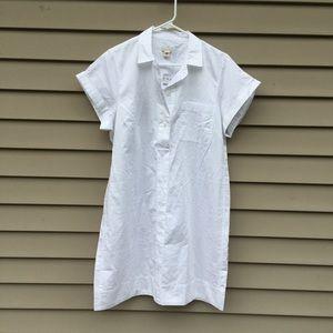 NWT J Crew White tunic dress sz large